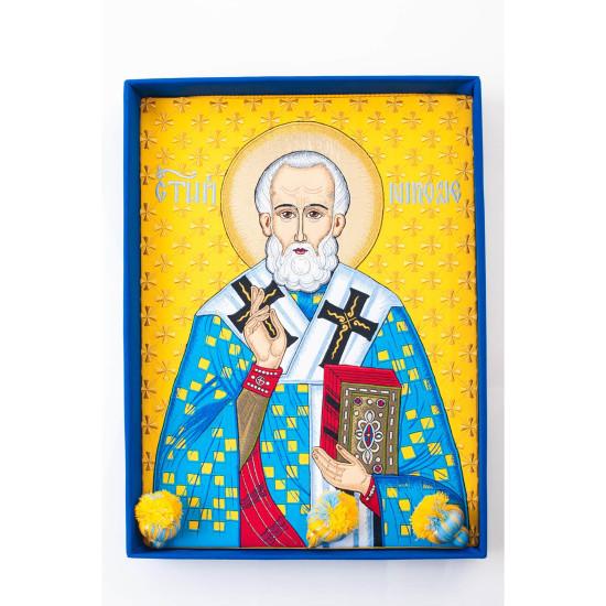 Ікона Микола Чудотворець в подарунковій коробці