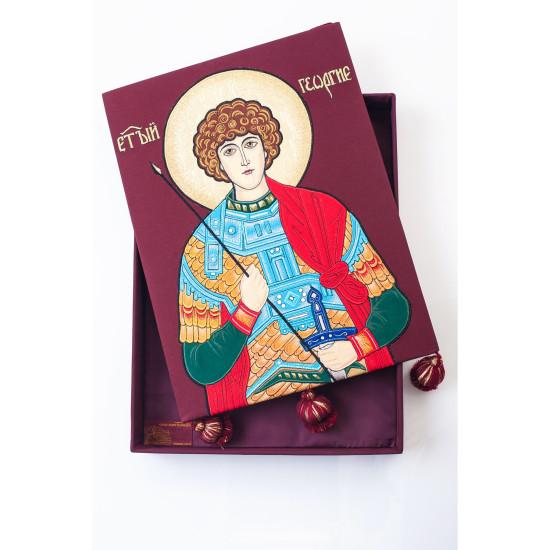 Ікона Георгій Переможець в подарунковій коробці