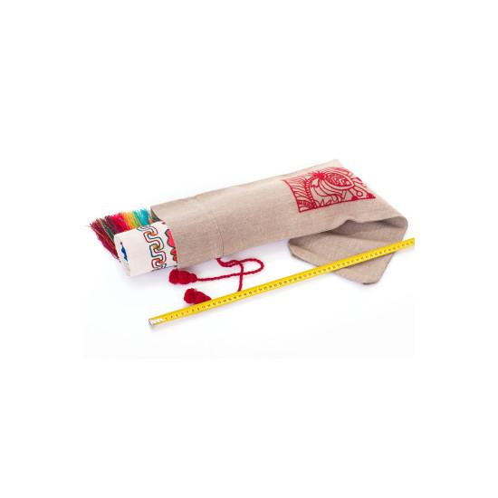 Рушник Червона рута (машинна вишивка)