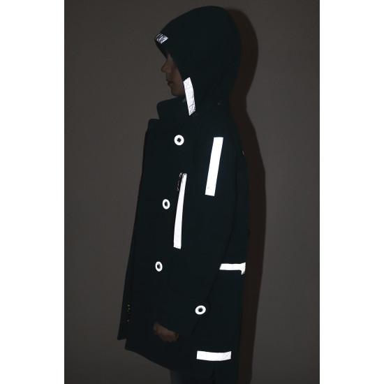 Дитяче пальто з рефлекторами