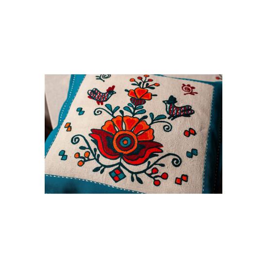 Набір Червона рута (столовий набір, рушник, подушка)