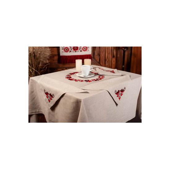 Столовий набір Козацьке бароко (червона гама)