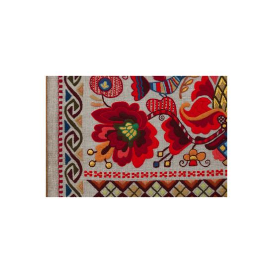 Вишита картина Козацьке бароко (Фрагмент рушника національної єдності)